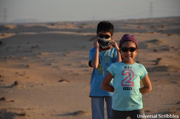 Dubai Desert travelling with kids