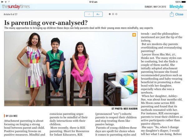 Meiling Features Sunday Times (1)